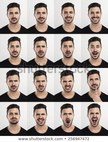 сердиться человека выразительный лице расстраивать изолированный Сток-фото © stepstock
