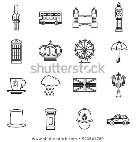 Londres icône Angleterre scratch anglais vecteur Photo stock © Myvector