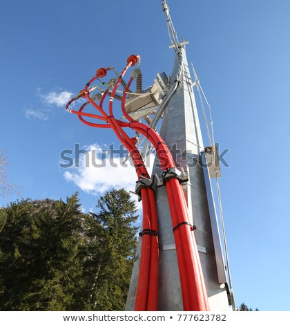 Power calbe and power pole Stock photo © w20er