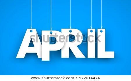 april in 3d wooden cubes Stock photo © marinini