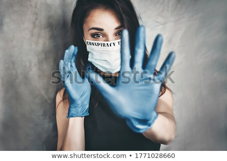 Sahte jest Asya iş kadını vermek Stok fotoğraf © elwynn