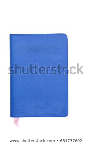 Mavi sahte deri kitap yalıtılmış beyaz Stok fotoğraf © vichie81