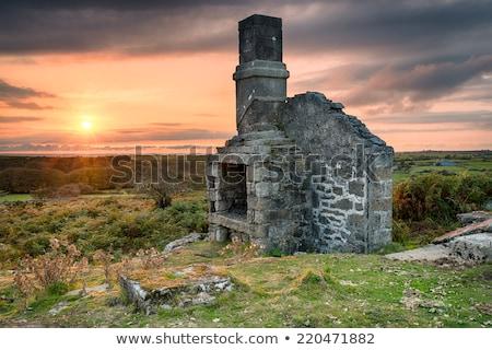 verlaten · verlaten · boerderij · huis · afstandsbediening · cornwall - stockfoto © flotsom