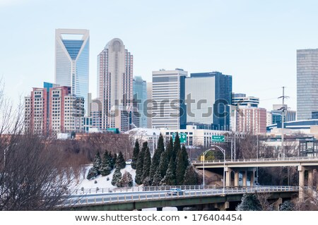 charlotte nc skyline covered in snow Stock photo © alex_grichenko
