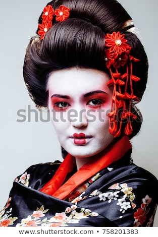 Retrato belo gueixa mulher cara Foto stock © Nejron