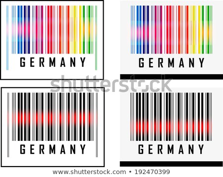 bar code icon and red laser sensor beam over germany stock photo © istanbul2009