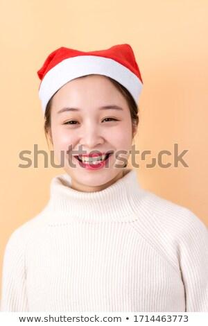 Thinking Mrs. Santa isolated on white background Stock photo © Nejron