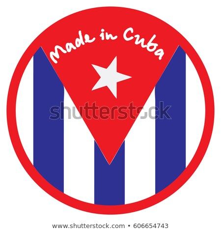 made in cuba   inscription on red rubber stamp stock photo © tashatuvango