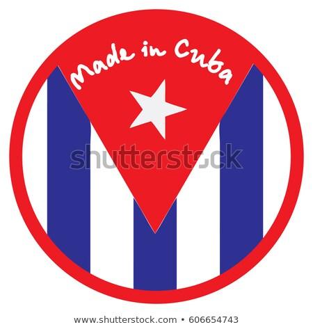 Cuba rouge isolé blanche Photo stock © tashatuvango