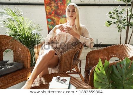 Gracieux lunettes de soleil blanche mains femmes Photo stock © 26kot