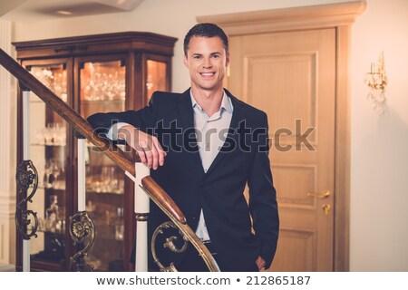 Jóképű fiatal férfi luxus házbelső divat Stock fotó © Nejron