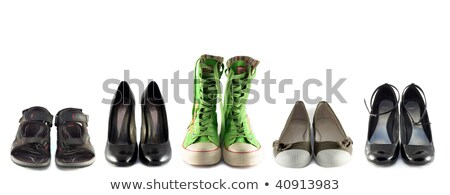 Five pair shoes of high heels Stock photo © alekleks