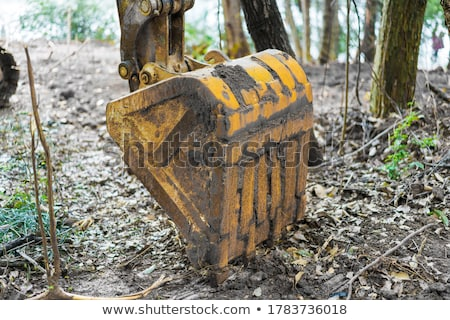 Escavadora pá 3D gerado quadro Foto stock © flipfine