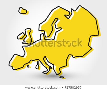 クロアチア · 政治的 · 地図 · ザグレブ · 重要 - ストックフォト © mayboro1964
