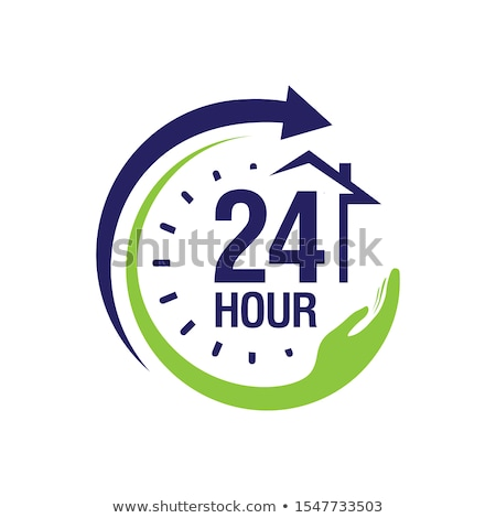 24 Hours Emergency Service Red Vector Icon Button Stock photo © rizwanali3d