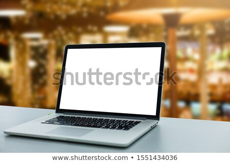 at night in front of the laptop stock photo © spectral
