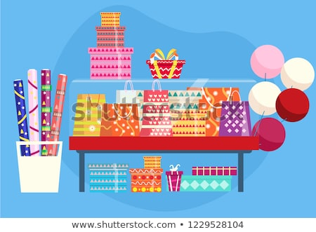 Colorful rolls of wrapping paper Stock photo © ozgur
