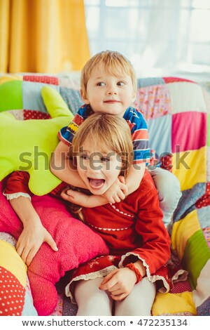 Baby boy playing in his room Stock photo © igabriela