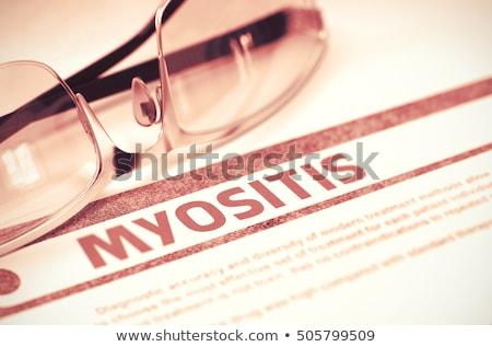 Diagnostic médicaux rendu 3d rapport rouge pilules Photo stock © tashatuvango