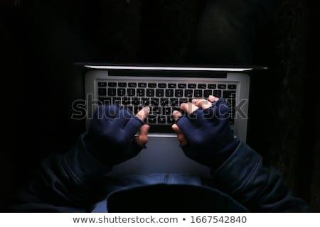 Rabló asztal hackelés laptop fekete számítógép Stock fotó © wavebreak_media