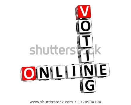 Online Poll on Red Puzzle. Stock photo © tashatuvango