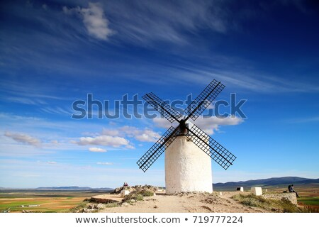 Rural landscape around Consuegra, Castile-La Mancha, Spain Stock photo © fisfra