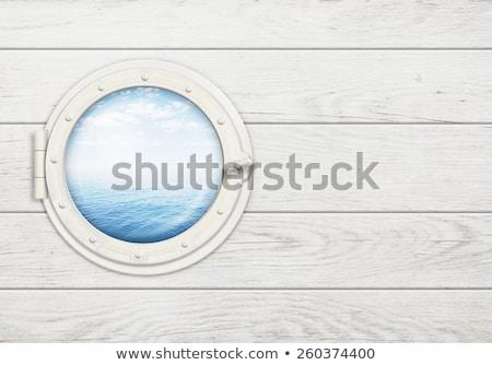 schip · venster · oud · hout · frame · muur - stockfoto © sirylok