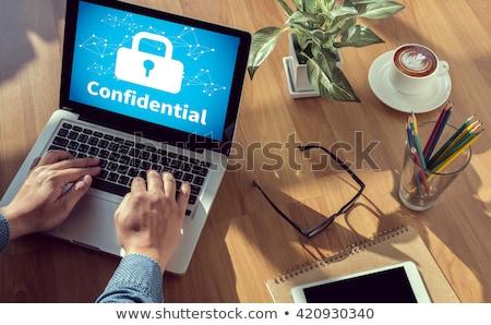 Confidencial oficina carpeta imagen de trabajo mesa Foto stock © tashatuvango