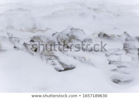 грязные снега фон льда зима темно Сток-фото © inoj