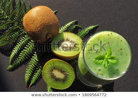 Plakje vers sappig kiwi mint kruid Stockfoto © tetkoren