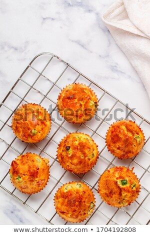 Ham and cheddar breakfast muffins Stock photo © rojoimages