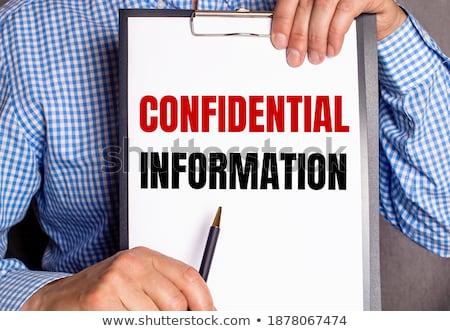 office folder with inscription data sheet stock photo © tashatuvango