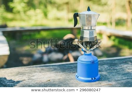 Koffie Italiaans stijl camping gas Stockfoto © nalinratphi