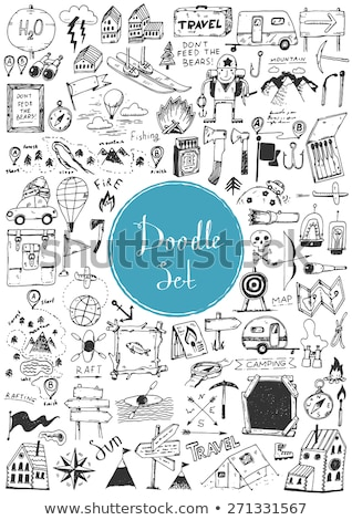 doodle vector set of adventure stock photo © netkov1