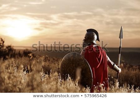 askerler · siluet · gün · batımı · savaş · takım · güç - stok fotoğraf © adrenalina