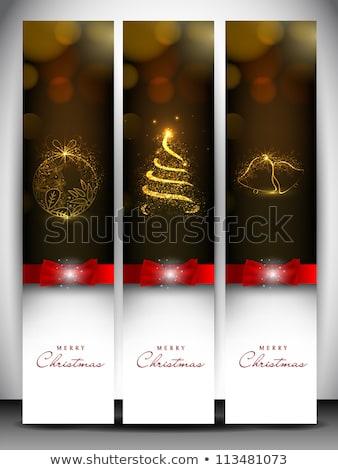 Navidad establecer nevadas eps 10 vector Foto stock © beholdereye