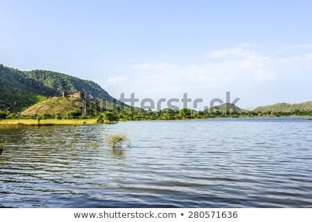 форт парка Индия пейзаж деревья храма Сток-фото © meinzahn