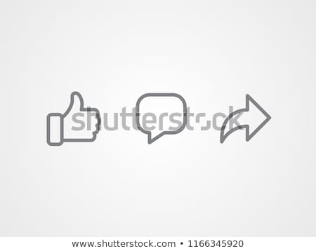 Comentarios icono signo ilustración diseno web Foto stock © kiddaikiddee