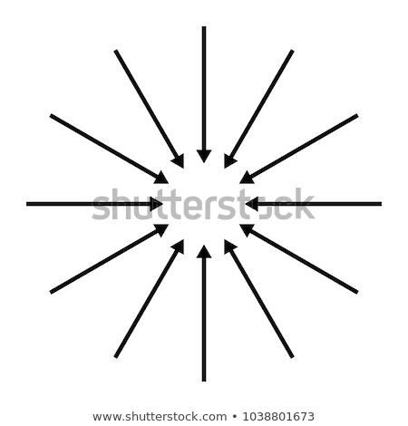 Concentrico frecce colorato isolato bianco illustrazione 3d Foto d'archivio © make