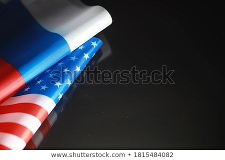 A Russian diplomat at the background of the flag Stock photo © m_pavlov