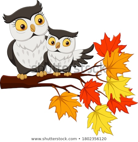 owl mom on branches Stock photo © adrenalina