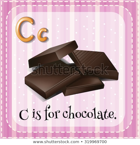 Letter c chocolade illustratie voedsel achtergrond kunst Stockfoto © bluering