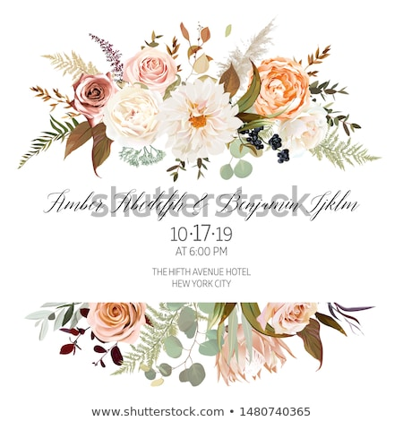 A floral border with orange flowers Stock photo © bluering