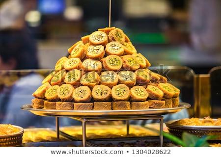 sweet baklava dessert Stock photo © M-studio