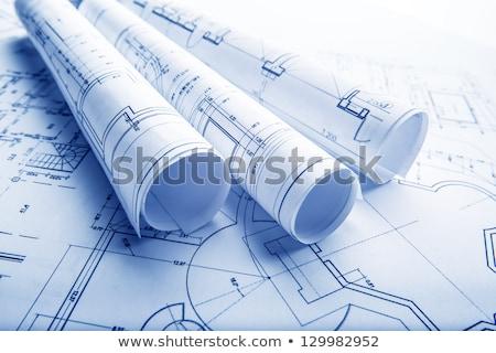 Architectural projet blueprints plan plans Photo stock © klss
