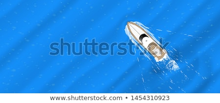 yacht boat template Stock photo © vector1st