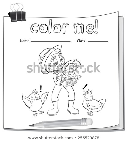 Worksheet showing a farmer Stock photo © bluering