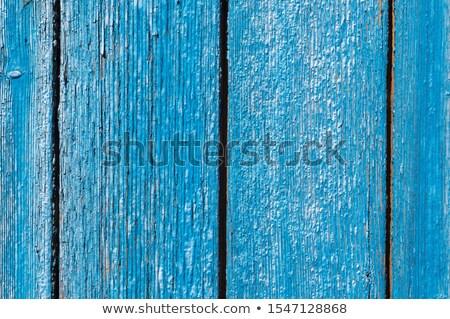 Blue painted wooden planks peeling off Stock photo © stevanovicigor