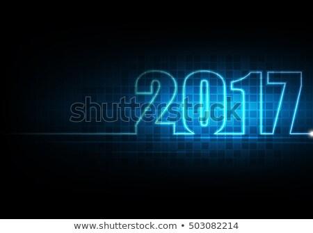 happy new year 2017 on digitally generated background stock photo © wavebreak_media