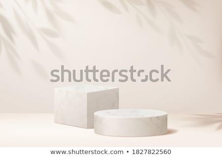 Сток-фото: студию · подиум · фон · комнату · интерьер · белый